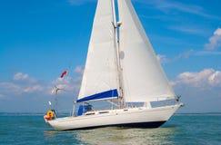 Sailing Boat Yacht at Sea Stock Photography