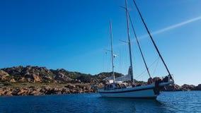 Sailing boat, Sardinia Stock Photos