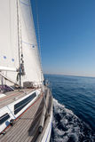 Sailing boat in the sea Stock Photography