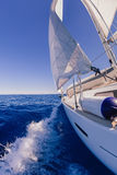 Sailing boat in the sea Stock Images