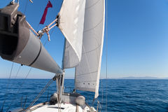 Sailing boat in the sea Stock Photo