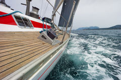 Sailing boat in the sea Royalty Free Stock Image