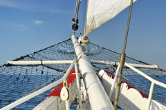 Sailing boat in the sea, blue sky Stock Images
