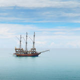 Sailing boat in the sea Stock Image