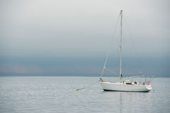 Sailing boat on the sea Royalty Free Stock Photography