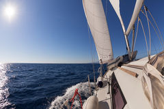 Sailing boat  in the sea Stock Photos