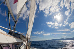 Sailing boat in the sea Royalty Free Stock Photos