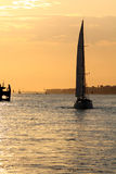 Sailing boat in the sunset Stock Photography