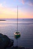 Sailing Boat at Sunset Royalty Free Stock Photo