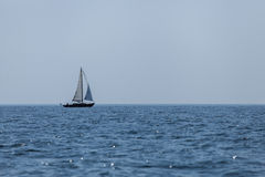 Sailing boat in the Swedish archipelago Royalty Free Stock Images
