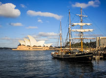 Sailboat at Sydney opera house Stock Photography
