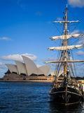 Sailboat at Sydney opera house Stock Image