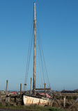 Sailing boat with tall mast Royalty Free Stock Image