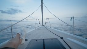 Sailing boat theme shots stock video