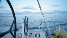 Sailing boat theme shots stock footage