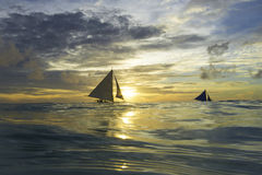 Sailing boat. There are beautiful blue sailing at sea stock photography