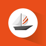 Sailing boat transport recreational. Vector illustration eps 10 Stock Photography