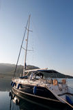Sailing boat in turkish marine Royalty Free Stock Images