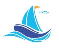 Sailing boat. Vector illustration of the Sailing boat Royalty Free Stock Photo