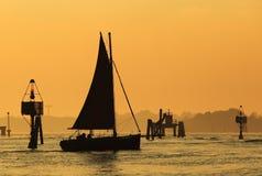Sailing boat in venetian lagoon Stock Image