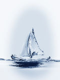 Sailing Boat Vertical Stock Image