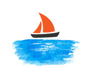 Sailing boat on the water Royalty Free Stock Photo