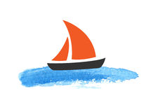 Sailing boat on the water Stock Photo