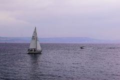 Sailing boat on Weymouth waters. Sailing boat weymouth waters ocean stock images