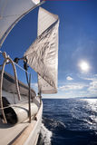 Sailing boat wide angle view Stock Photography