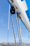 Sailing boat winches and ropes Royalty Free Stock Photos