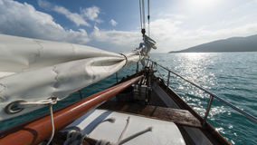 Sailing boat in the wind. Photo of Sailing boat in the wind a summerday royalty free stock photo