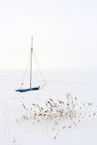 Sailing Boat in Winter Royalty Free Stock Photos