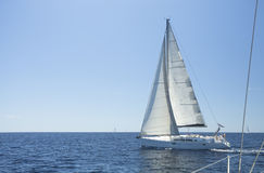 Sailing boat yacht or sail regatta race. Royalty Free Stock Images