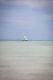Sailing boat in Zanzibar stock photography