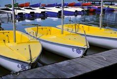 Sailing boats. At the pier Stock Image
