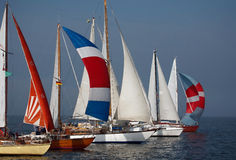 Sailing Boats. Race in Polish lake Royalty Free Stock Images