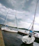 Sailing boats. Sailing boat docked in marina Royalty Free Stock Image