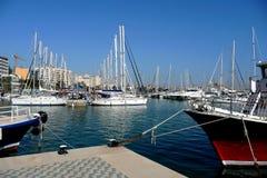 Sailing boats. And fishing boats in a Marina Royalty Free Stock Photography