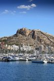 Sailing boats in Alicante port Royalty Free Stock Photos