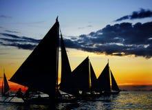 Free Sailing Boats At Sunset Stock Photo - 17963830