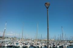 Sailing boats in Barcelona marina Royalty Free Stock Images