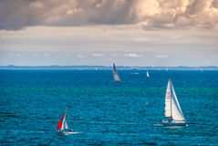 Sailing boats in Brittany, Carnac, France Stock Images
