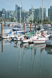 Sailing boats, Coal Harbor, Vancouver Royalty Free Stock Image