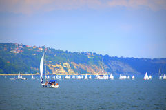 Sailing boats competition Stock Photography