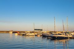 Sailing boats in Constanta port, Romania Stock Photography
