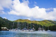 Sailing boats docked. At the shore Stock Photography