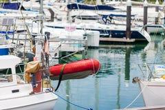 Sailing boats docked Royalty Free Stock Photos