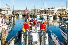 Sailing boats at Fishermans Wharf Stock Image