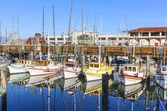 Sailing boats at Fishermans Wharf Royalty Free Stock Photo