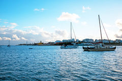 Sailing boats in the harbor from Portimao Portugal. Sailing boats in the harbor from Portimao in Portugal Stock Photography